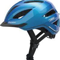Abus Pedelec 1.1 Steel Blue med regnslag og LED lys - El Cykelhjelm