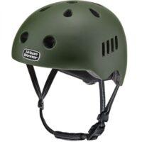 Army Grøn letvægts cykelhjelm med magnetlås og reflekser, UrbanWinner Army Green