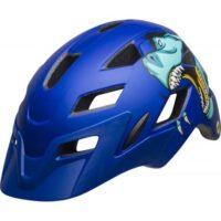 Bell Sidetrack Cykelhjelm Junior, Mat Blue T-Rex