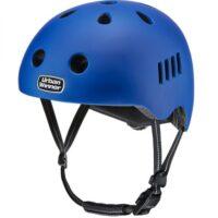 Blå letvægts cykelhjelm med magnetlås og reflekser, UrbanWinner Hero Blue