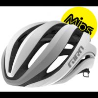 Giro Aether Mips cykelhjelm, mat hvid/sølv