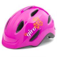 Giro Scamp børnehjelm, pink m/blomster