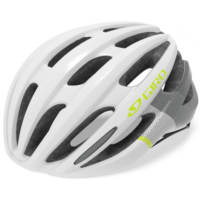 Hvid/citron Giro Saga Cykelhjelm