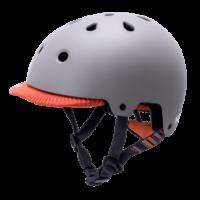 KALI SAHA mat grå/orange cykelhjelm