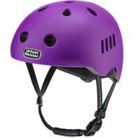 Lilla letvægts cykelhjelm med magnetlås og reflekser, UrbanWinner Purple
