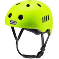 Neon Gul letvægts cykelhjelm med magnetlås og reflekser, UrbanWinner Screaming Yellow