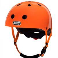 Orange cykelhjelm med magnetlås, UrbanWinner Neon Orange