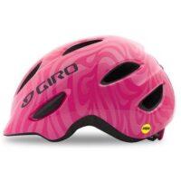 Pink Swirl Giro Scamp MIPS børnehjelm