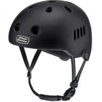Sort letvægts cykelhjelm med magnetlås og reflekser, UrbanWinner Classic Black